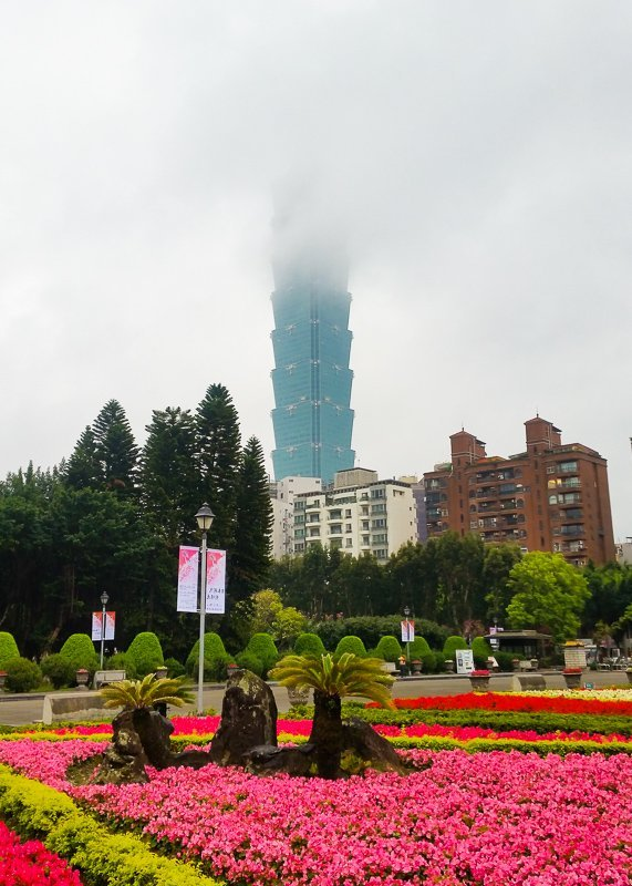 Taipei 101 from Sun Yat Sen Memorial Hall, Taipei, Taiwan