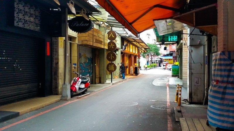 Ximending in the mornings, Taipei, Taiwan