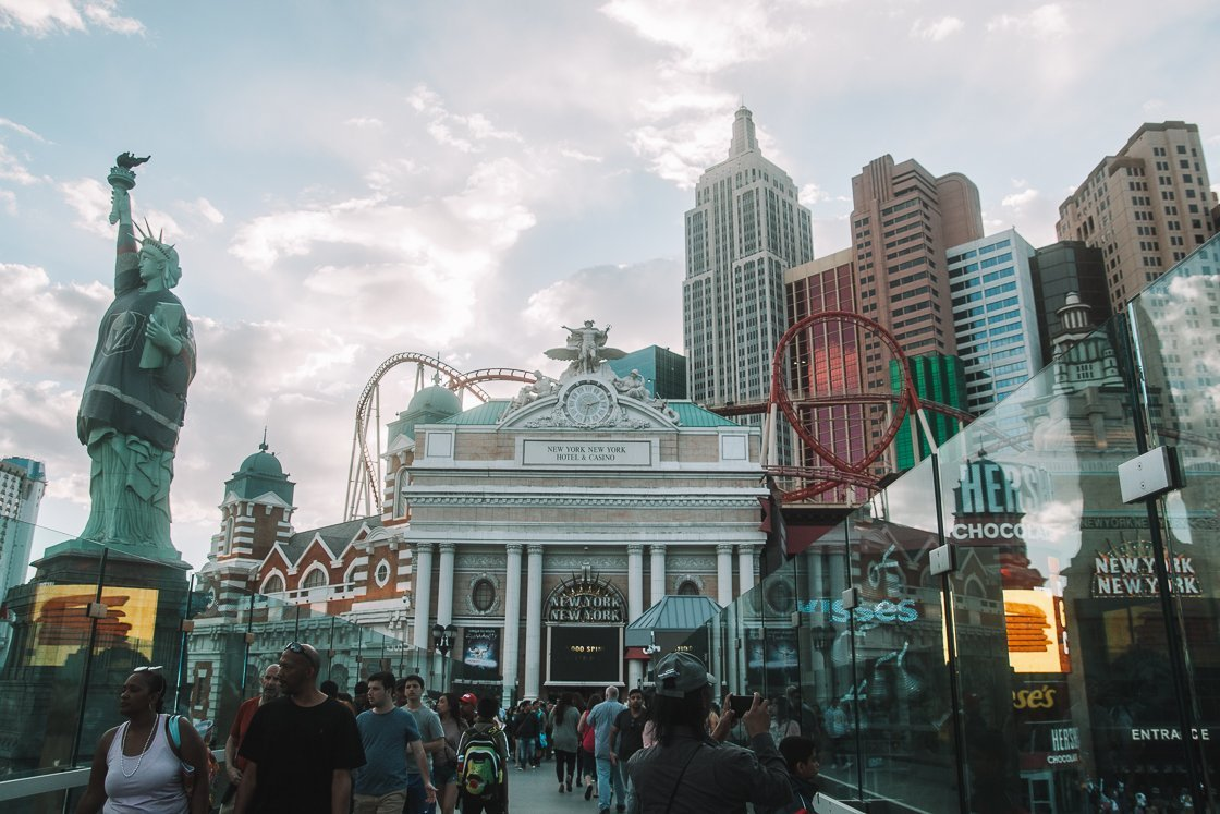 New York New York Hotel in Las Vegas, 2-week US itinerary