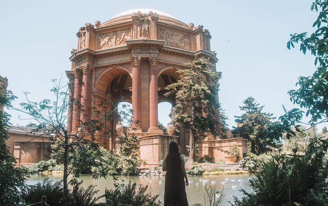 Palace of Fine Arts, San Francisco, 2-week US itinerary with no car