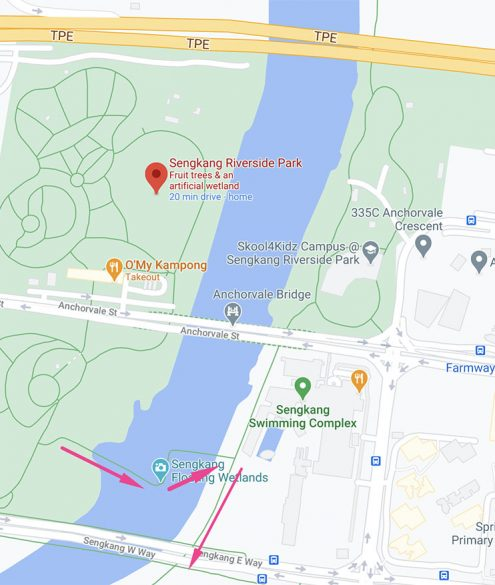 c2c detailed map sengkang riverside park